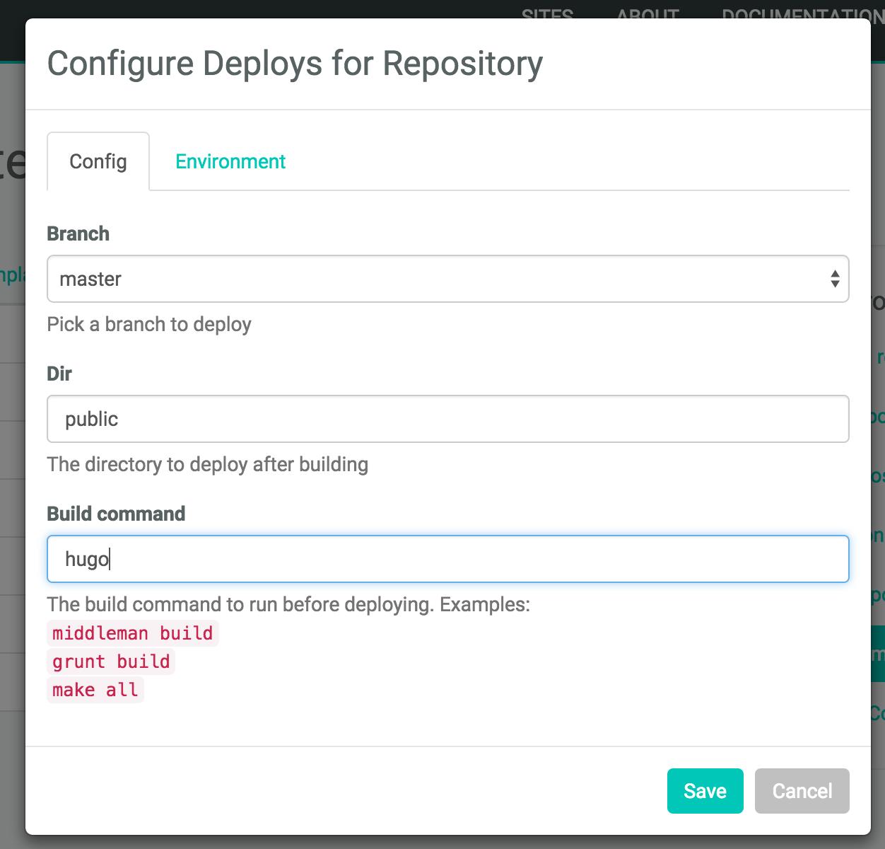 Hugo Netlify Configuration