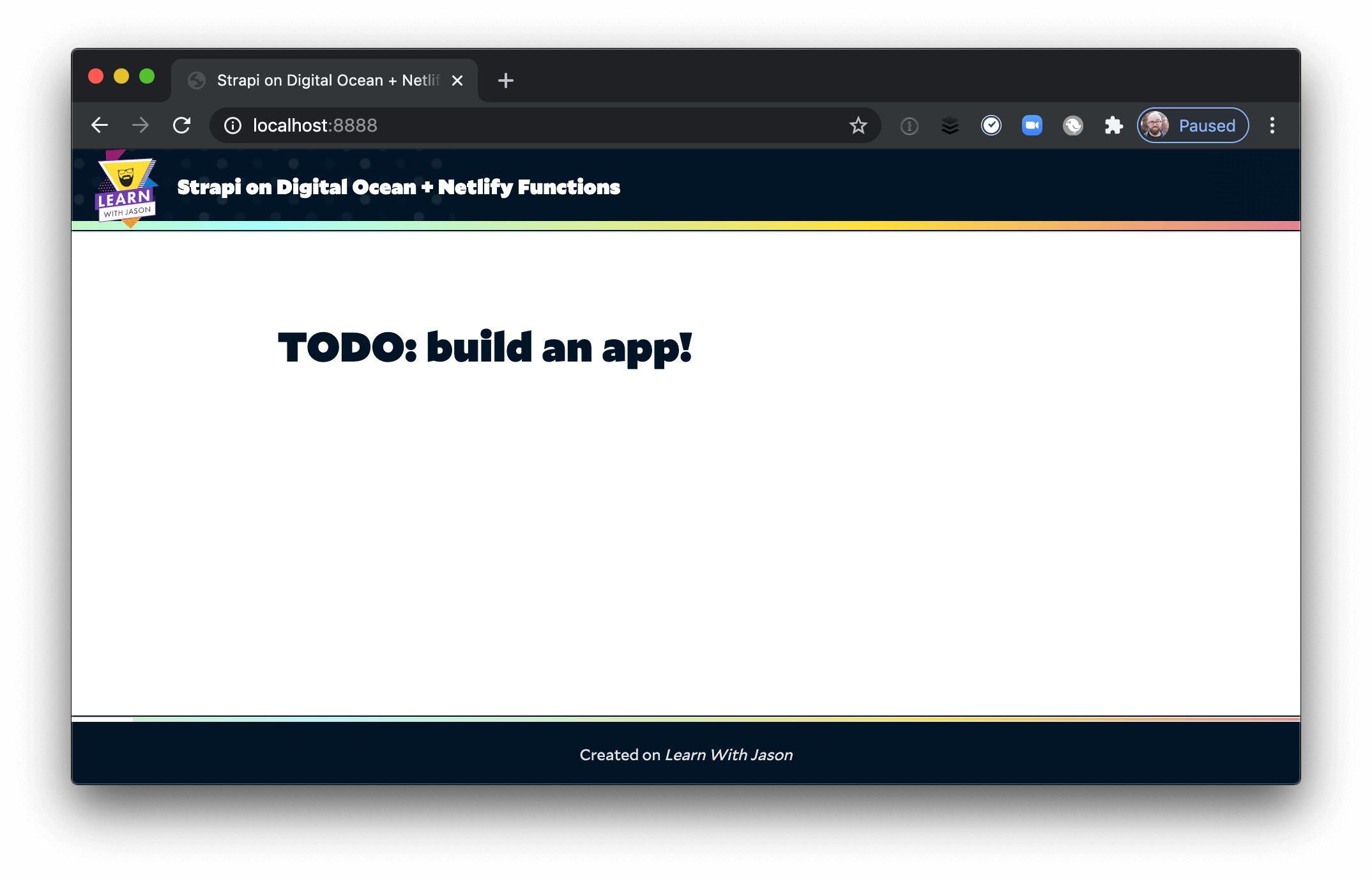 Demo in the browser with a TODO headline.