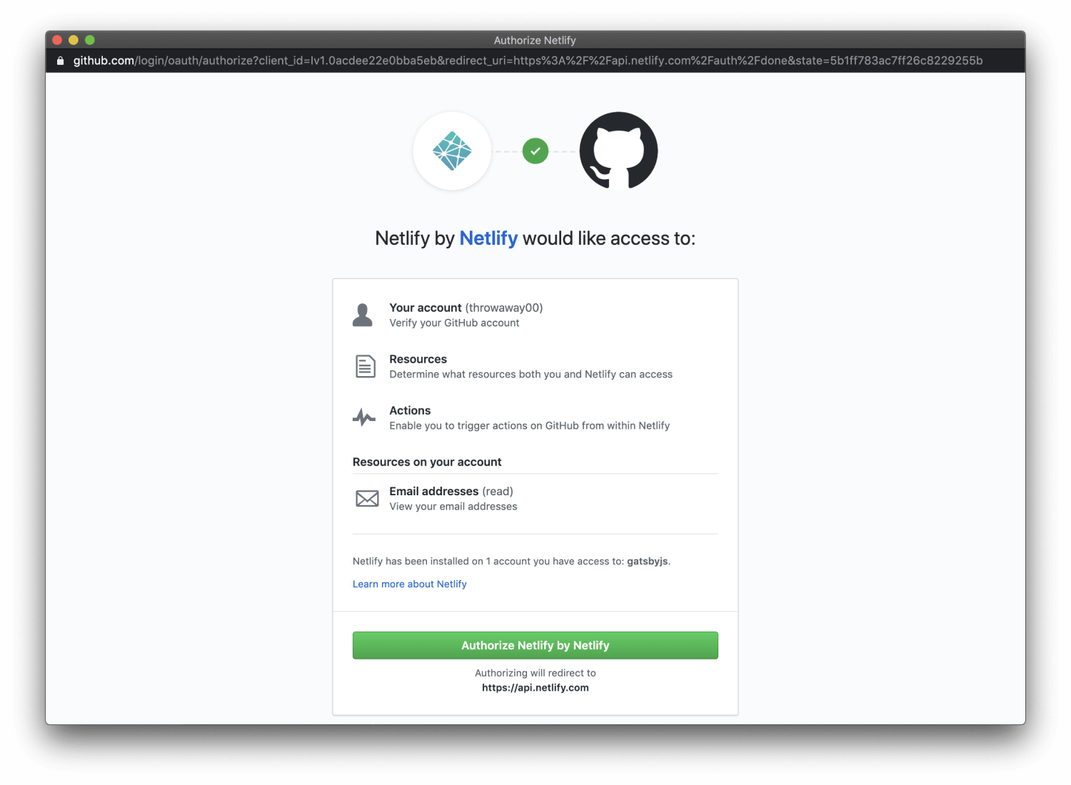 step 3 - authorize auth Netlify app