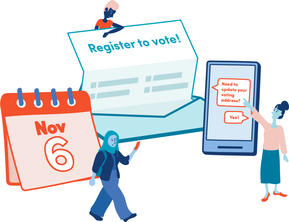 Register to Vote graphic from Democracy Works