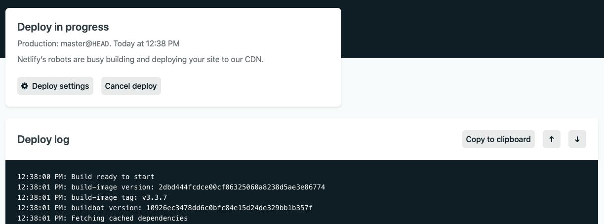 netlify app jekyll site build ci/cd configuration settings