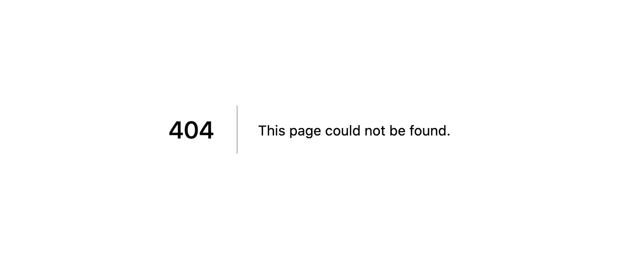 Next.js 404 Error Page