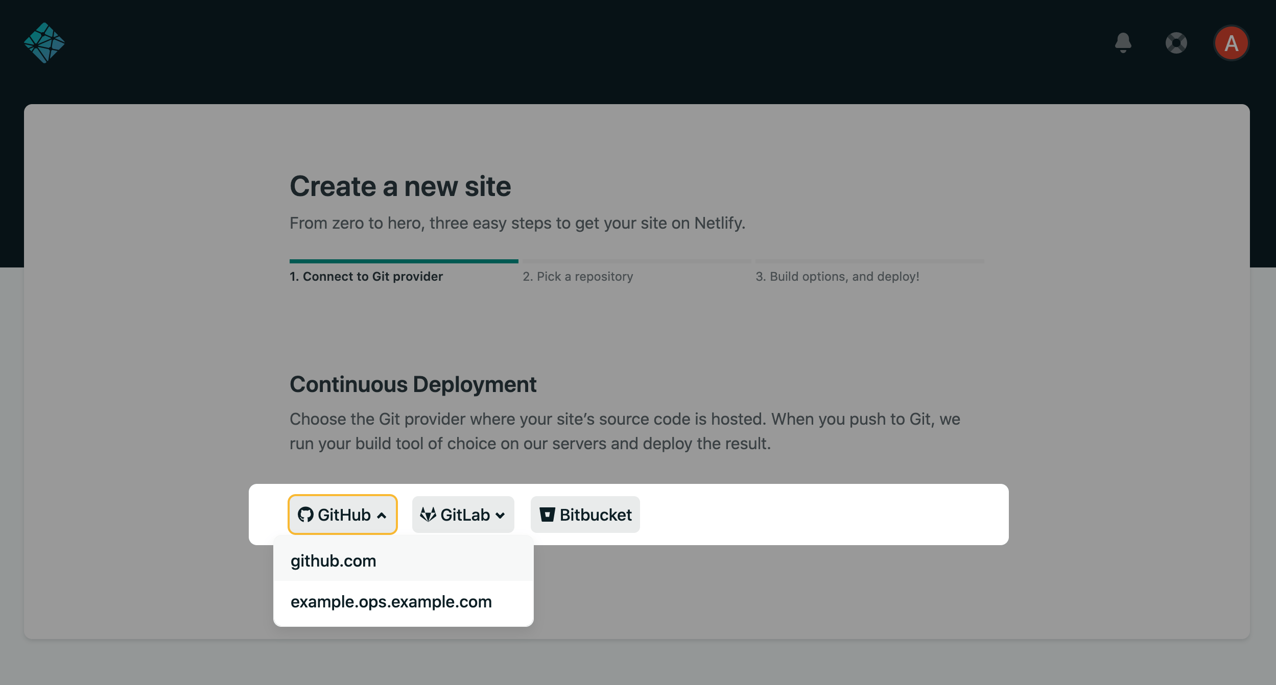 Setting up self-hosted GitHub Enterprise with Netlify.