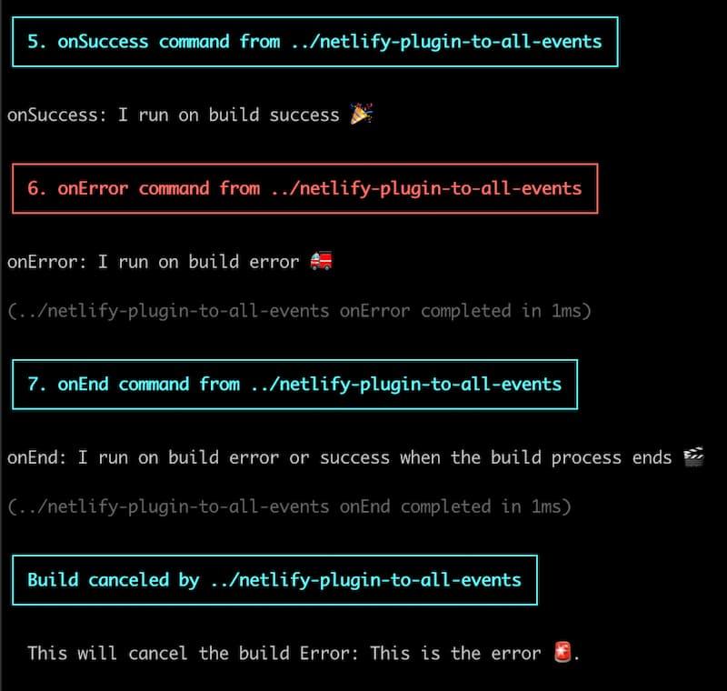 a canceled build error