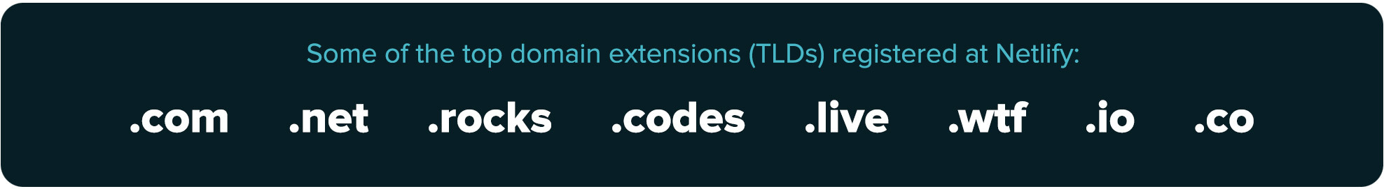 TLDs available to register on Netlify