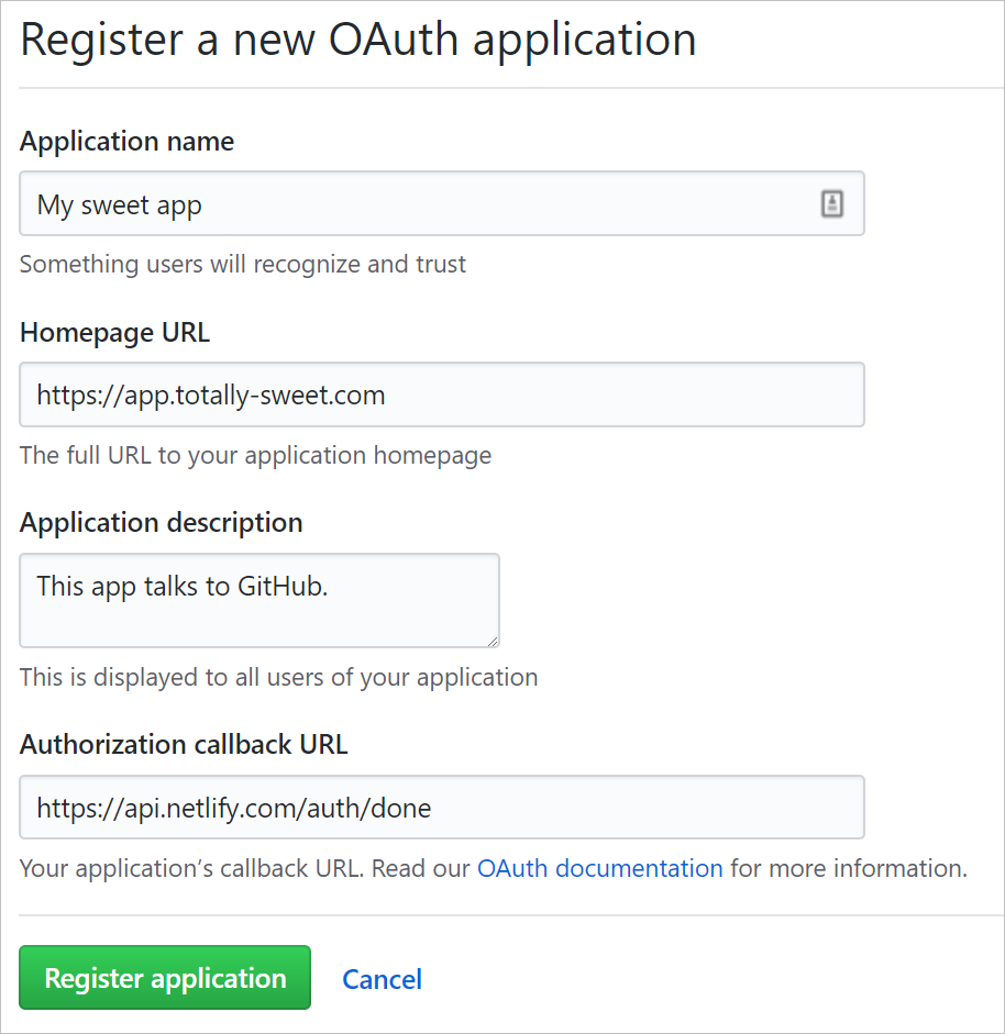 Netlify and GitHub Authorization