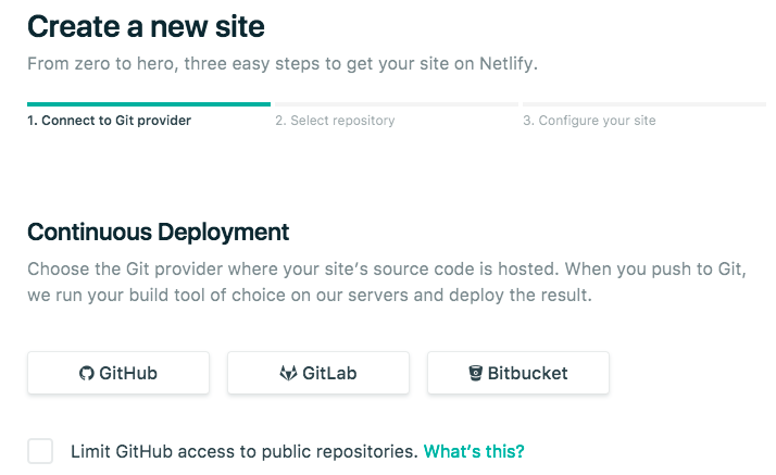 Connect Git Repo