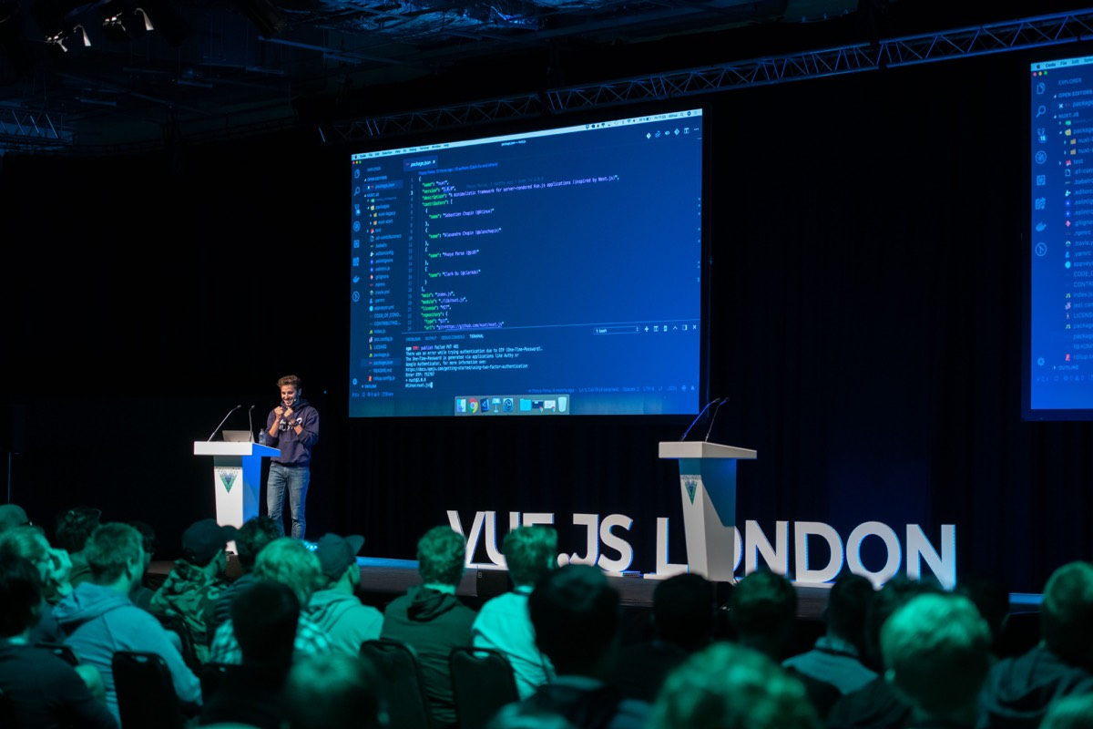 Sebastien Chopin speaking at Vue London
