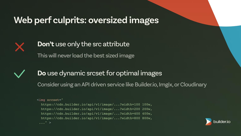 Web perf culprit: oversized images