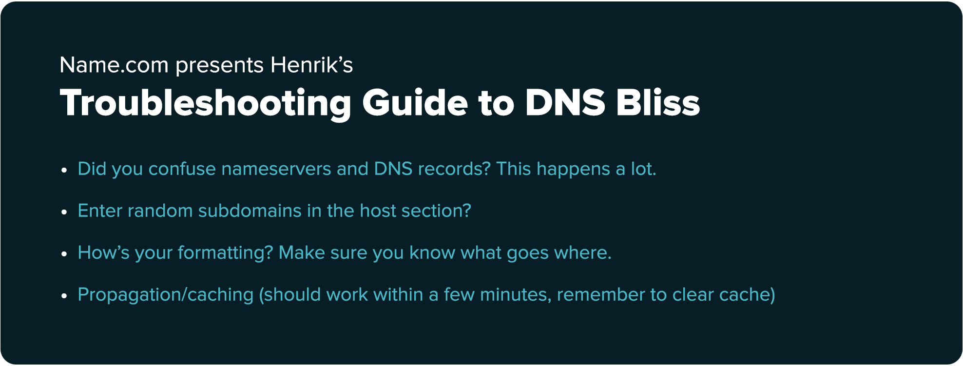 DNS records common errors troubleshooting guide