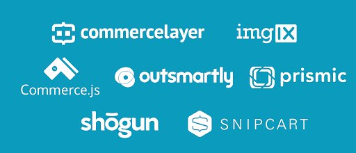 Headless Commerce sponsors: Commerce Layer, Commerce.js, imgix, Outsmartly, Prismic, Shogun, Snipcart
