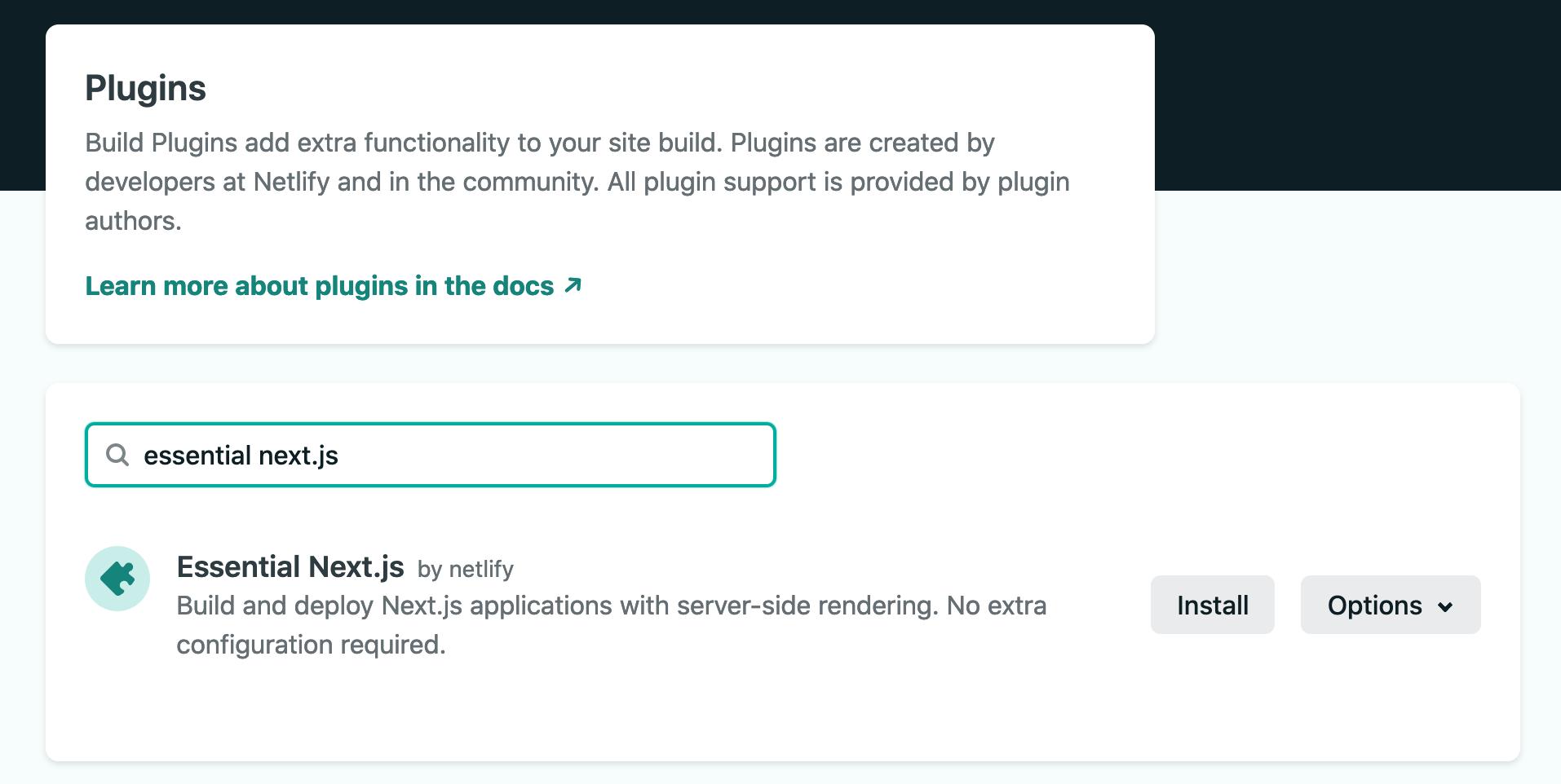 Install the Essential Next.js plugin