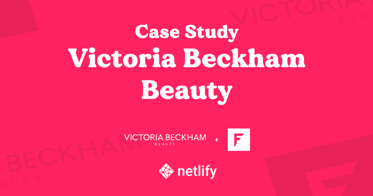 Victoria Beckham Beauty web story on Netlify