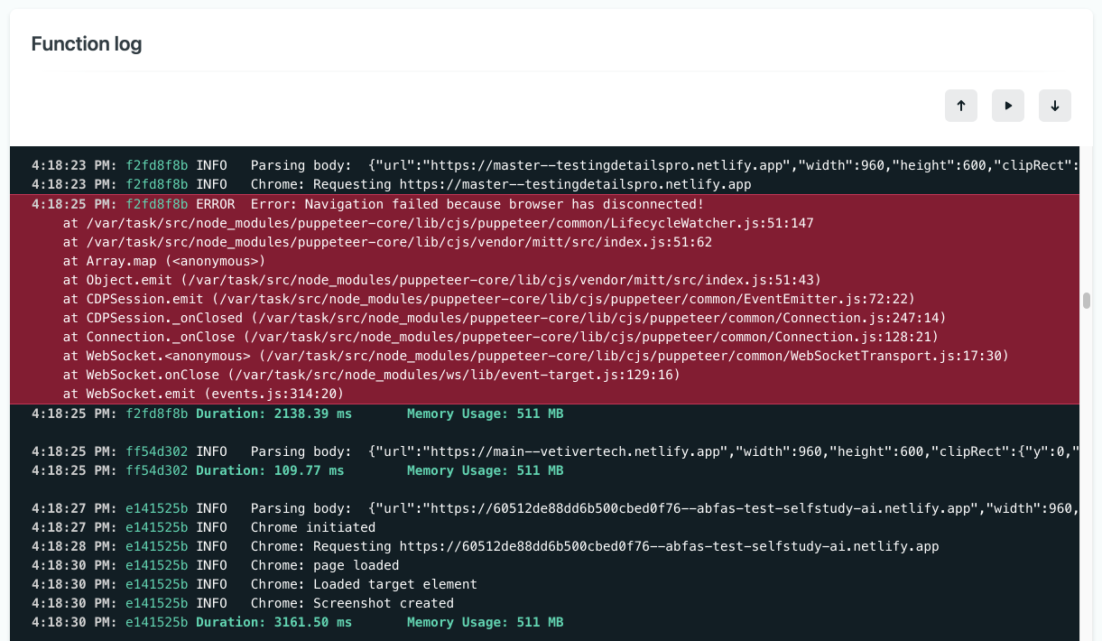 How to color-code Netlify function logs
