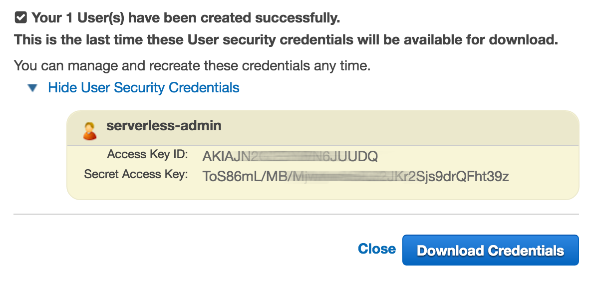 User Credentials
