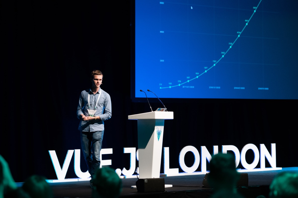 Ives van Hoorne speaking at Vue London