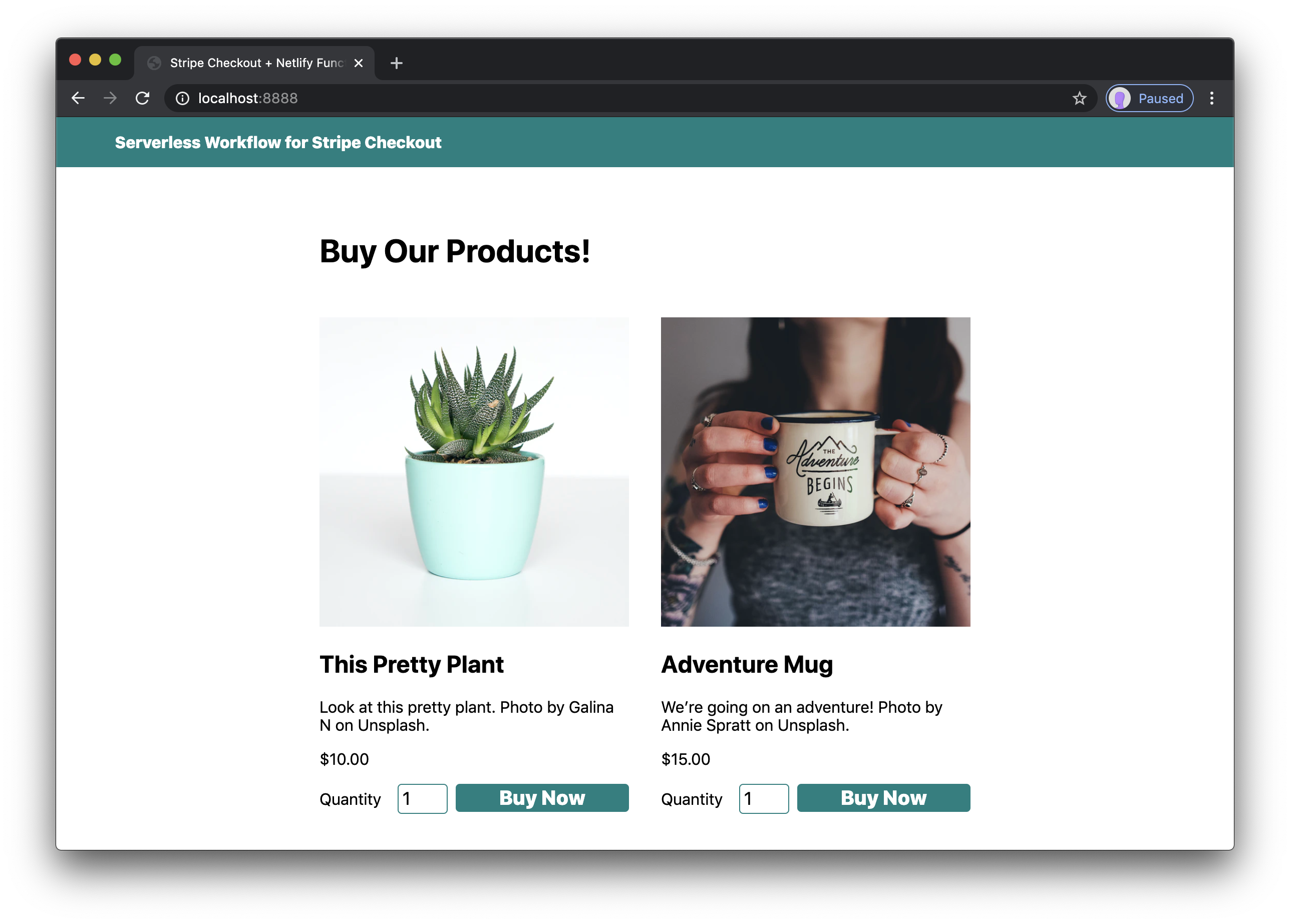 styled products in the browser