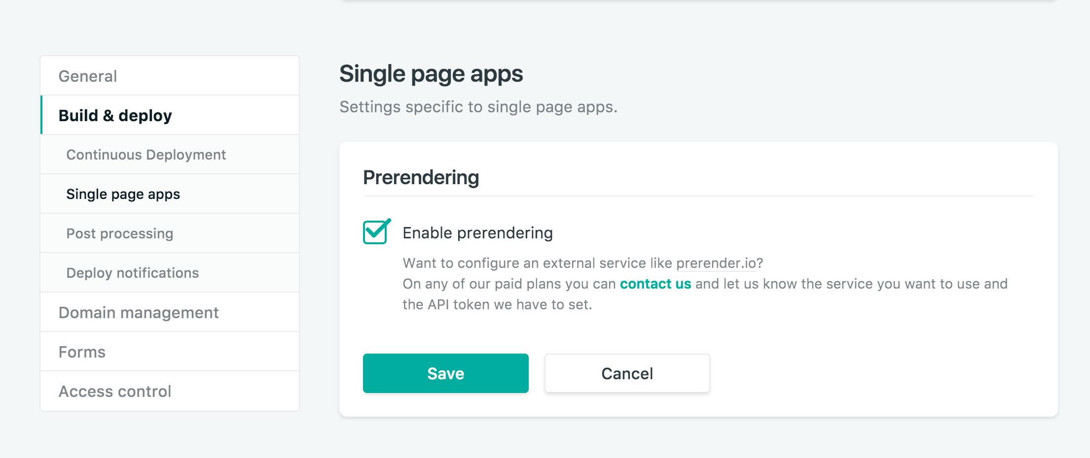 Netlify prerendering screenshot