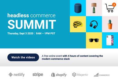 Screenshot of the headlesscommercesummit.com website