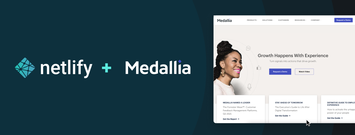 Medallia's Jamstack Migration led to 50 percent better Core Web Vital Scores