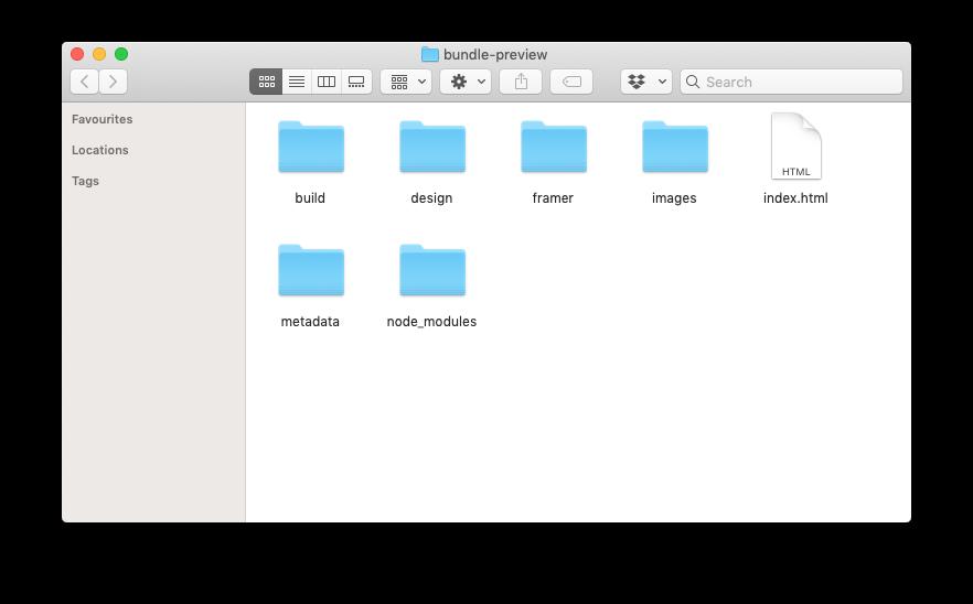web preview folder