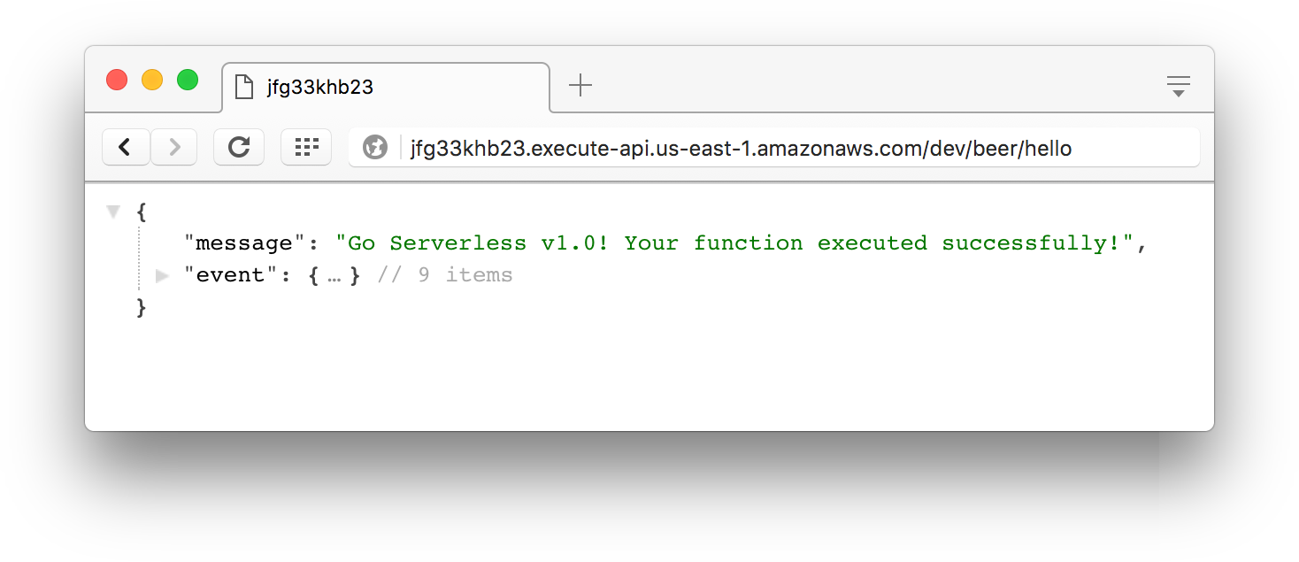Testing lambda function with http emdpoint
