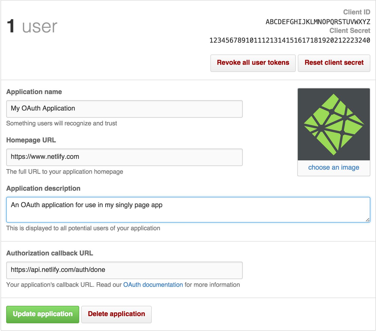 GitHub OAuth Configuration