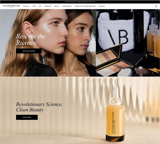 Victoria Beckham Beauty website