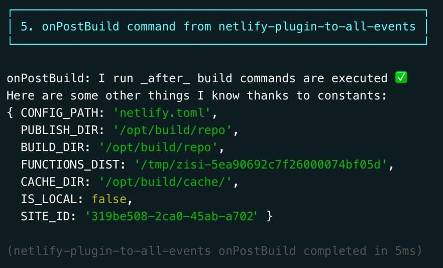 constants ntl build log output